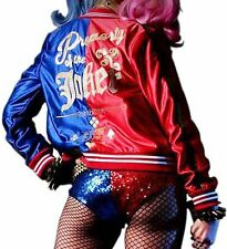Women's Comic Harley Quinn Costume Suicide Squad Property of Joker Women Jacket