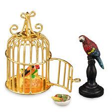 Reutter Porzellan Papagei Parrot Cage Set Puppenstube Dollhouse 1:12 Art 1.654/8