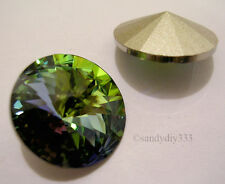 2x SWAROVSKI 1122 Vitrail Medium 18mm RIVOLI STONE CRYSTAL foiled