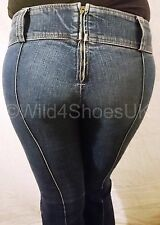 "MISS SIXTY DARK BLUE NIXIE ONE JEANS - UK SIZE 8 - WAIST 26"" LEG 30"""