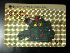 SD GUNDAM SUPER DEFORMED CARD CARDDASS PRISM CARTE 209 BANDAI JAPAN 1989 G+ EX+