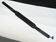 """LM Ultra black padded LEATHER guitar STRAP new 3"""" wide Black"""