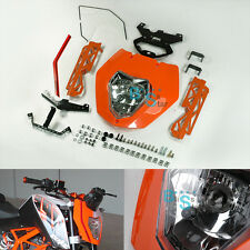 Front Emark Orange Headlight Mask Assembly Cover for KTM 125 200 390 Duke O1
