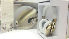 TED BAKER ROCKALL HIGH PERFORMANCE HEADPHONES - CHAMPAGNE - GOLD AND WHITE. NEW