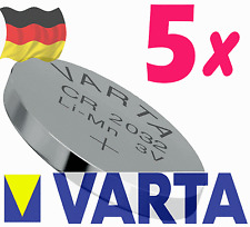 **FRESHLY NEW** 5x VARTA CR2032 DL2032 Lithium Battery 3V Pack 5 pcs Coin Cell