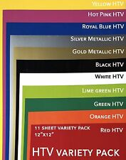 "grab bag 11 sheets 12""x12"" pack  HTV siser Easyweed heat transfer vinyl set lot"