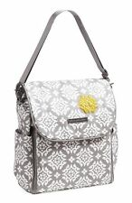 NWT Petunia Pickle Bottom Boxy Coated Cotton Canvas Backpack Diaper Bag Gray