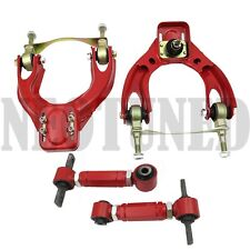 RED 92-95 CIVIC 94-01 INTEGRA DEL SOL FRONT REAR CAMBER BUSHING KIT ALIGNMENT