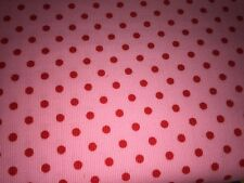 Cordstoff Babycord Feincord Rote Punkte Dots Auf Rosa Pink Kinderstoff