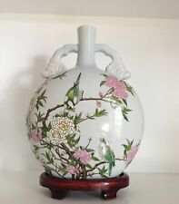 Huge Qing Antique Chinese Porcelain Moon Flask Marked Kangxi Nian Zuo & CHINA