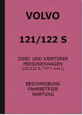 Volvo 121 122 Typ S F L Bedienungsanleitung Handbuch Owner's Manual Beschreibung