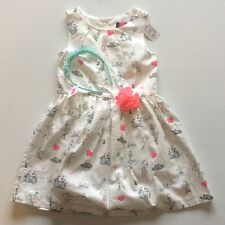 The Children's Place Toddler Girl 5T Printed Dress With Head Band