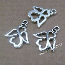 15pc Retro Tibetan Silver Angel Pendant Charms Beads Accessories Findings JP690