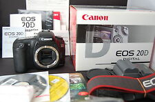 Mint Canon 20D 8.2 MP Digital SLR Camera Body w/ accessories in Box from Japan