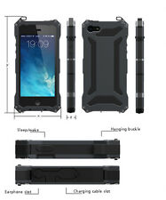Waterproof Shockproof Gorilla Glass Aluminum Metal Case Bumper For iPhone 5 6s 7