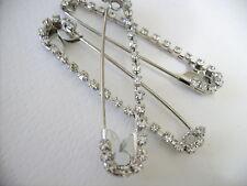 Brosche Anstecknadel Sicherheitsnadel Silber Schmuck Kristall mit oder ohne HERZ