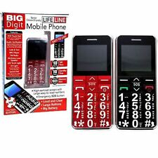 BIG DIGIT MOBILE PHONE WITH LARGE DIGITS SOS BUTTON UNLOCKED SENIOR CITIZEN GIFT