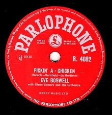 GEORGE MARTIN - EVE BOSWELL 78  PICKIN' A CHICKEN / BLUE STAR UK#9 PARL R4082 E-