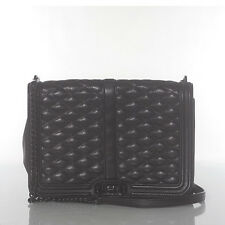 AUTH REBECCA MINKOFF BLACK LOVE QUILT LEATHER CROSSBODY MSRP $295.00 #302L