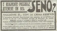 Y3050 La crema ESSEVIS sviluppa il Seno - Pubblicità del 1939 - Old advertising