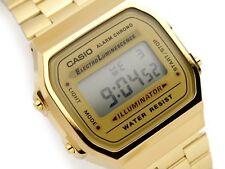 New Casio A168WG-9W Vintage Retro Gold Digital Illuminator Watch A168 A168WGA