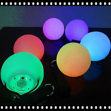 LED Multi-Coloured Glow POI Thrown Balls Light up For Belly Dance Hand Props SK