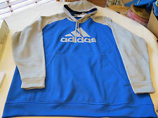 Adidas Climawarm fleece pullover jacket 3XLT Tall hoody hoodie coat Mens blue