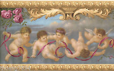 Victorian Architectural Antique Molding Angels Cherubs Rose Wallpaper Border