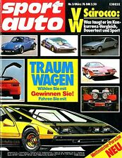 1976 SPORT AUTO MAGAZINE 3 VW SCIROCCO OETTINGER AUDI 80 TEST DEUTSCH GERMAN