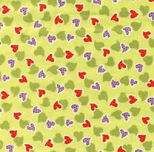 Fat Quarter Hearts  Summer of Love Cotton Quilting Fabric   Fabric Freedom