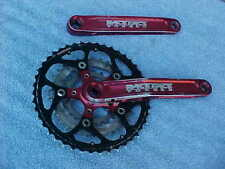 Race Face Vintage Turbine 175 Cranks Crankset Red Anodized Mountain Road 94 BCD