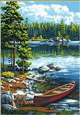Dimensions Paintworks Paint by Number Kit, Canoe by The Lake