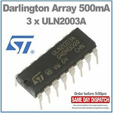 3 X ST Micro ULN2003A DARLINGTON ARRAY 500mA DIP16 (paquete de 3)