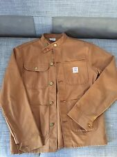 Pointer Brand Brown Duck Chore Coat  Banded Collar Men's Size Small