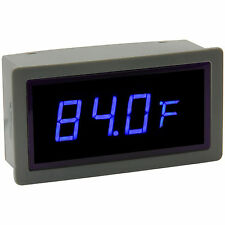 "0.56"" Digital Blue LED Automobile Thermometer Panel Meter Intl & Ext Probe"