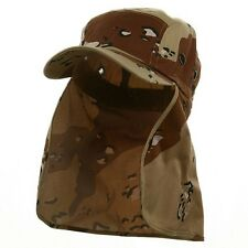 Foreign Legion BDU Cadet Long Neck Flap Hat  Military Flat Top DESERT CAMO Cap