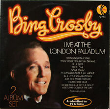 "Bing Crosby Live at London Palladium LP 12"" 33rpm flawless vinyl records (mint)"