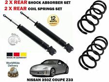 FOR NISSAN 350Z Z33 COUPE 3.5 2002-  2 X REAR SHOCK ABSORBER + COIL SPRINGS SET