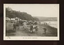 Dorset SWANAGE Nice close up Edwardian Beach scene RP PPC by Kingsway