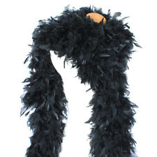 "180g 80"" Midnight Black Chandelle Feather Boa, largest in eBay Quality for Stage"