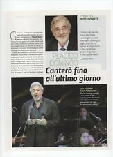 SP13 Clipping-Ritaglio 2010 Placido Domingo Canterò fino all'ultimo giorno