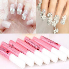 5Pcs Mini ProfessionaL Beauty Nail False Art Decorate Tips Acrylic Glue 2g