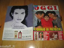OGGI 1990/18=PATRIZIA TACCHELLA=TOTO' CASCIO=LADY DIANA=SUZZARA=GRETA GARBO=