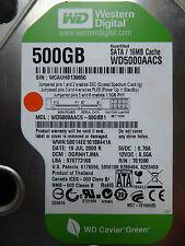 500 GB Western Digital WD5000AACS-00G8B1 / DGRNHTJMA / JUL 2009 harde schijf