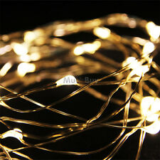3M 9Ft Warm White 30LED Copper Wire LED String Fairy Lights Lamp for Decoration