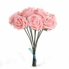 Foam Rose Artificial Silk Wedding Bride Flower Bouquet Party Decor ED