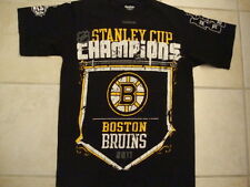 NHL Boston Bruins 2011 Stanley Cup Champions Black T Shirt Men's size S