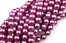 70 Berry Wine Glass Pearl Round Beads 6MM LIMITED
