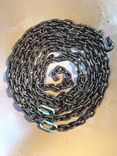 "Vintage 1950 Log  Recovery Tow Chain 5/16"" x 18 Ft Grab Hook"