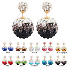 Fashion Elegant Jewelry Double Sided Pearl Earrings Ear Stud Big Ball Beads
